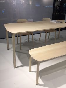 Imm Cologne 2017 trade fair interior trends wood table chairs