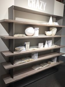 Imm Cologne 2017 trade fair interior trends wood shelf