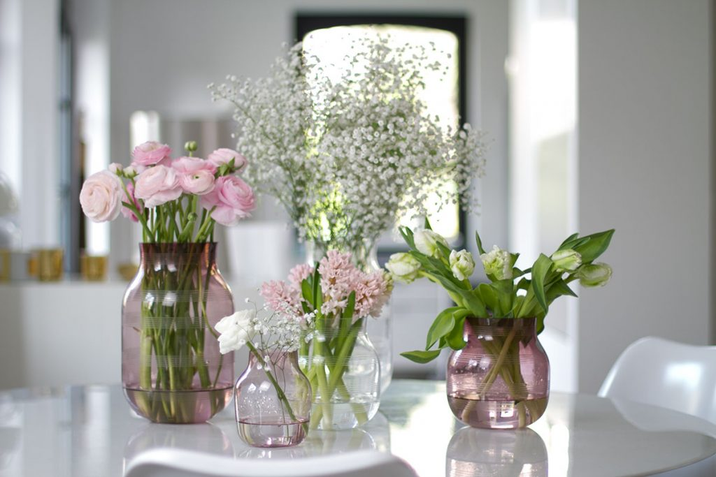 kähler hay glass vases spring flowers blog post on lifetime-pieces.com