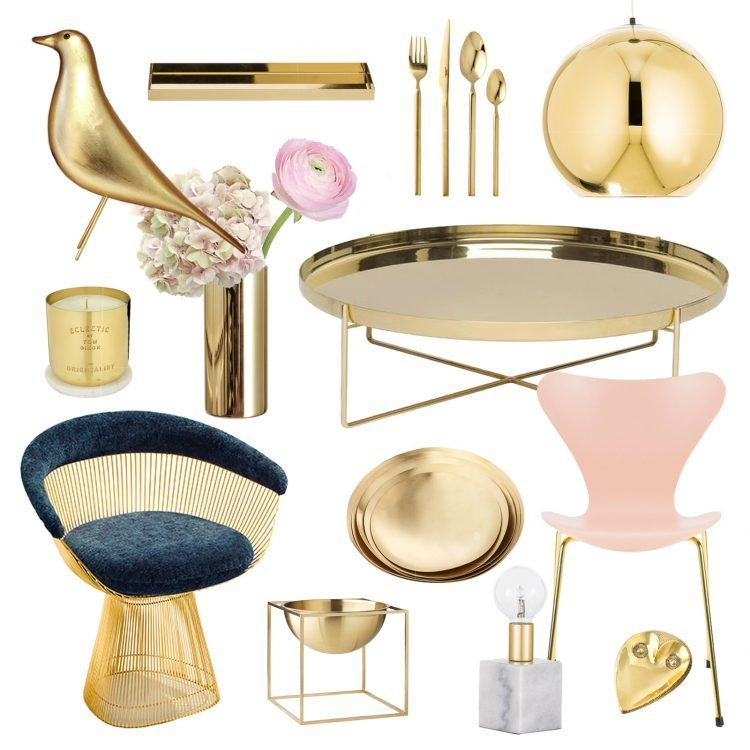Collage Gold Fever Decoration Ideas on Lifetime-Pieces.com