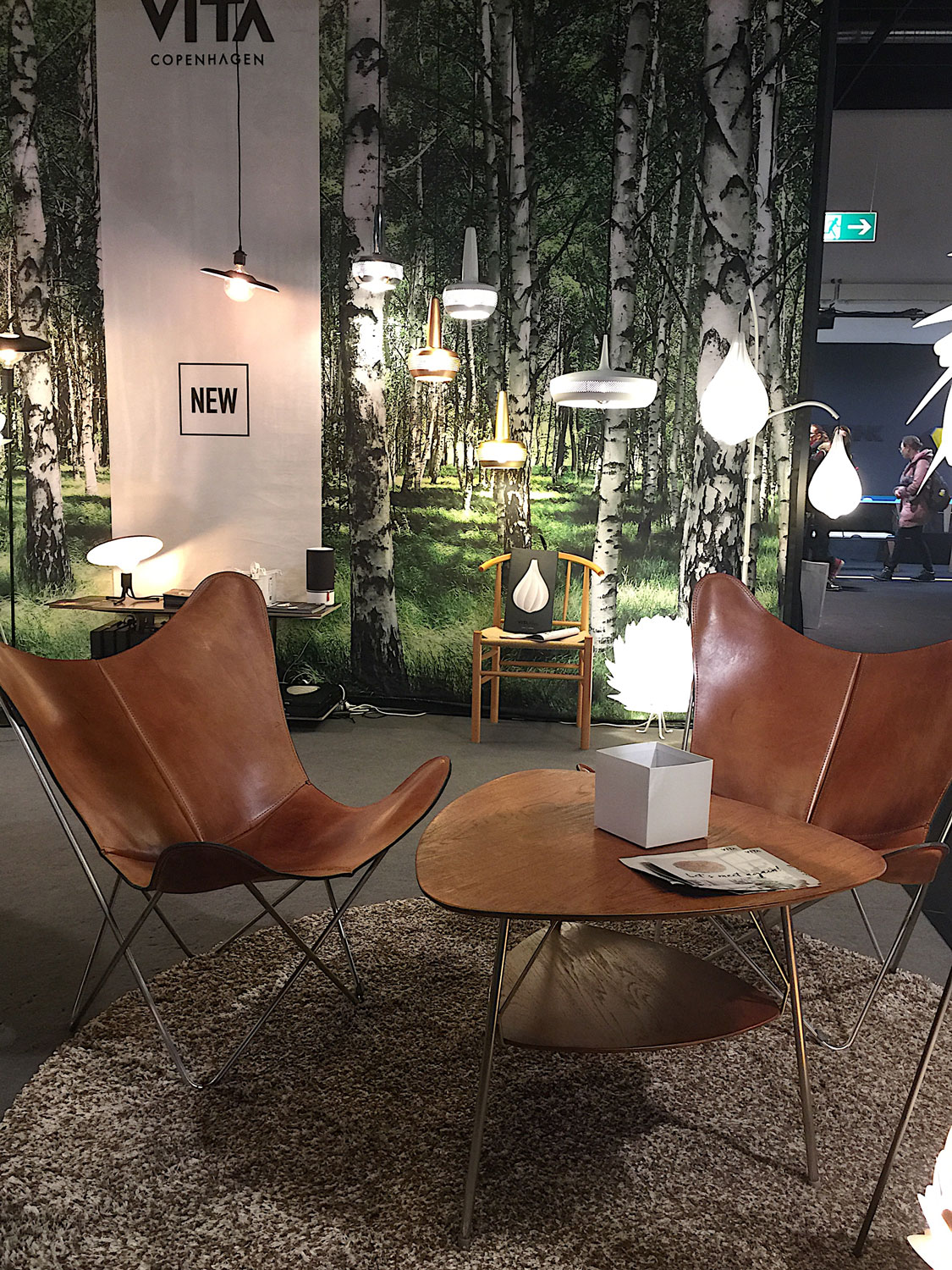 Imm Cologne 2017 trade fair interior trends leather chairs plants