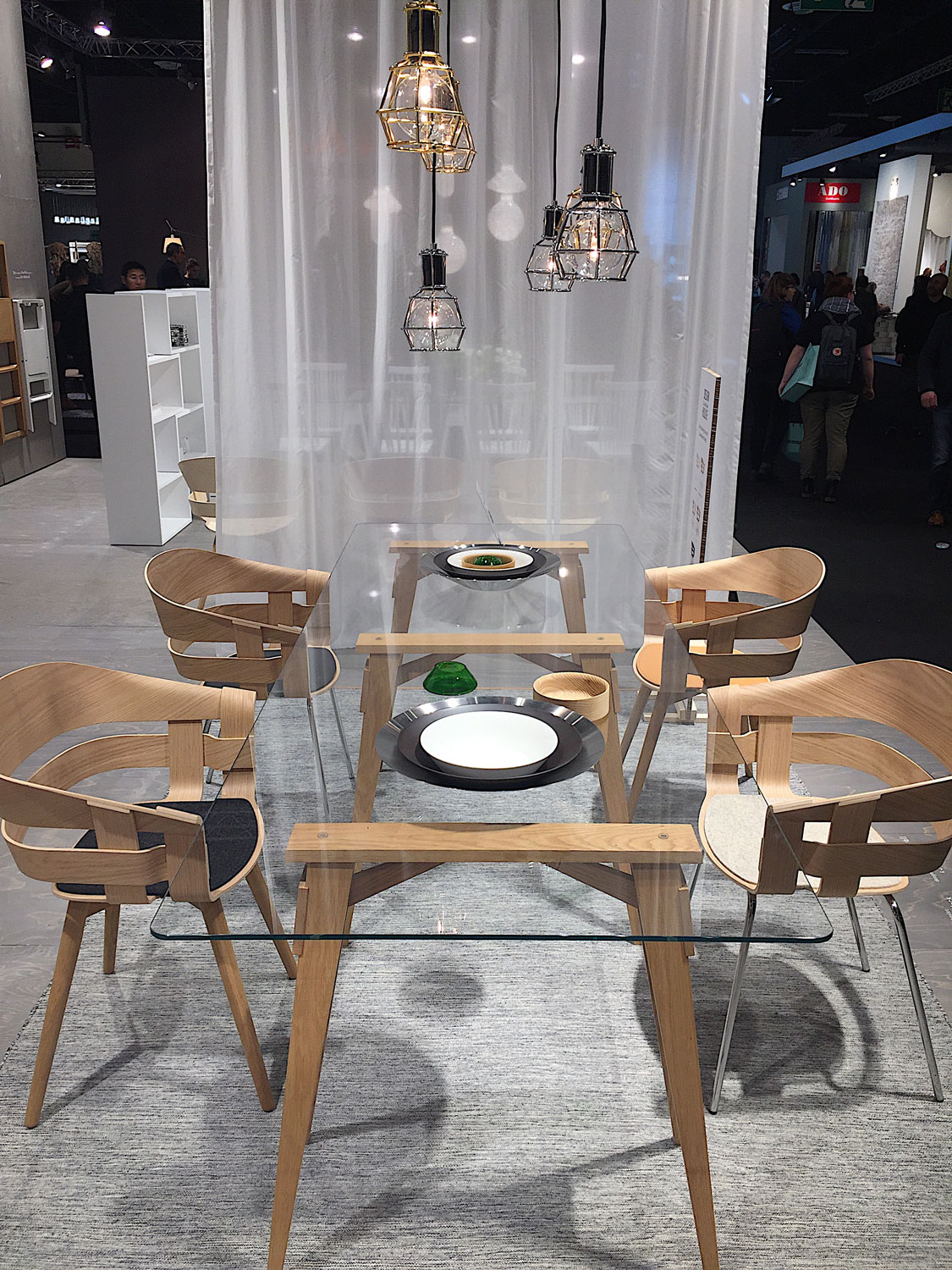 Imm Cologne 2017 trade fair interior trends wood chairs table