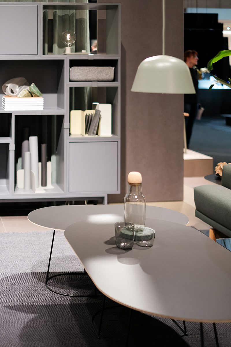Pendant lamp Ambit, Side Tables, sideboard, exhibitor Muuto, imm cologne fair 2018, blog post lifetime-pieces.com