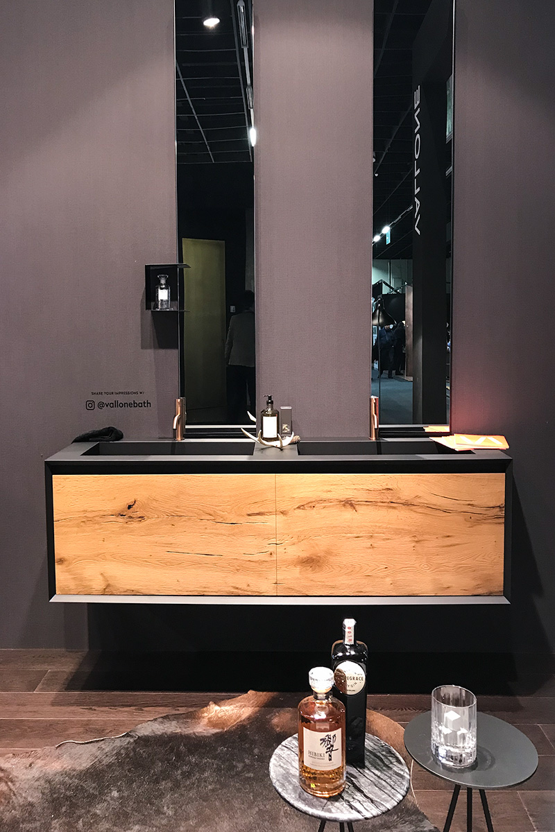 exhibitor stand vallone bathroom, imm cologne trade fair 2018, blog post lifetime-pieces.com