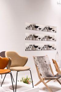 Kubus bowls, Jupiter Chair, Laxe oak folding chair at exhibitor by Lassen, imm cologne fair 2018, blog post lifetime-pieces.com
