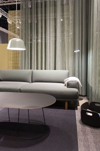 Pendant lamp Ambit, Side Tables, sofa Compose series, exhibitor Muuto, imm cologne fair 2018, blog post lifetime-pieces.com