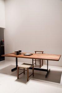 Kasimir table, wood, Aswan und Karnak chairs, exhibitor e15, imm cologne fair 2018, blog post lifetime-pieces.com