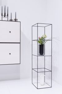 Frame Storage, Wein bookcase, Kubus candle holder, Lolo vase, exhibitor by Lassen, imm cologne fair 2018, blog post lifetime-pieces.com