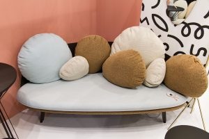 Nubilo Sofa, exhibitor Petite Friture, imm cologne fair 2018, blog post lifetime-pieces.com