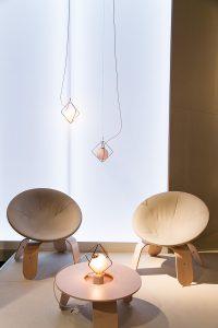 Armchairs, pendant lamps, coffee table wood, das Haus, imm cologne fair 2018, blog post lifetime-pieces.com