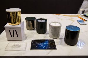 scented candles, exhibitor stand vallone bathroom, imm cologne trade fair 2018, blog post lifetime-pieces.com