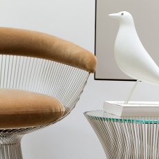 Knoll Platner Chair and siede table, Vitra Eames-House Bird, Markanto Designklassikerx