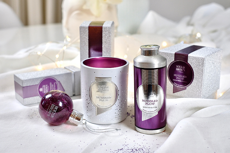 Molton Brown, Muddled Plum, Collection, Festive Bauble, Single Wick, Scented Glitter